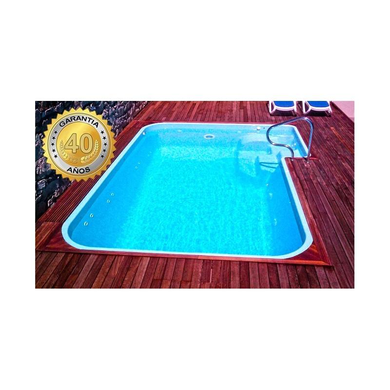 Piscina de fibra poli ster compacta 5l multiforma for Multiforma piscinas