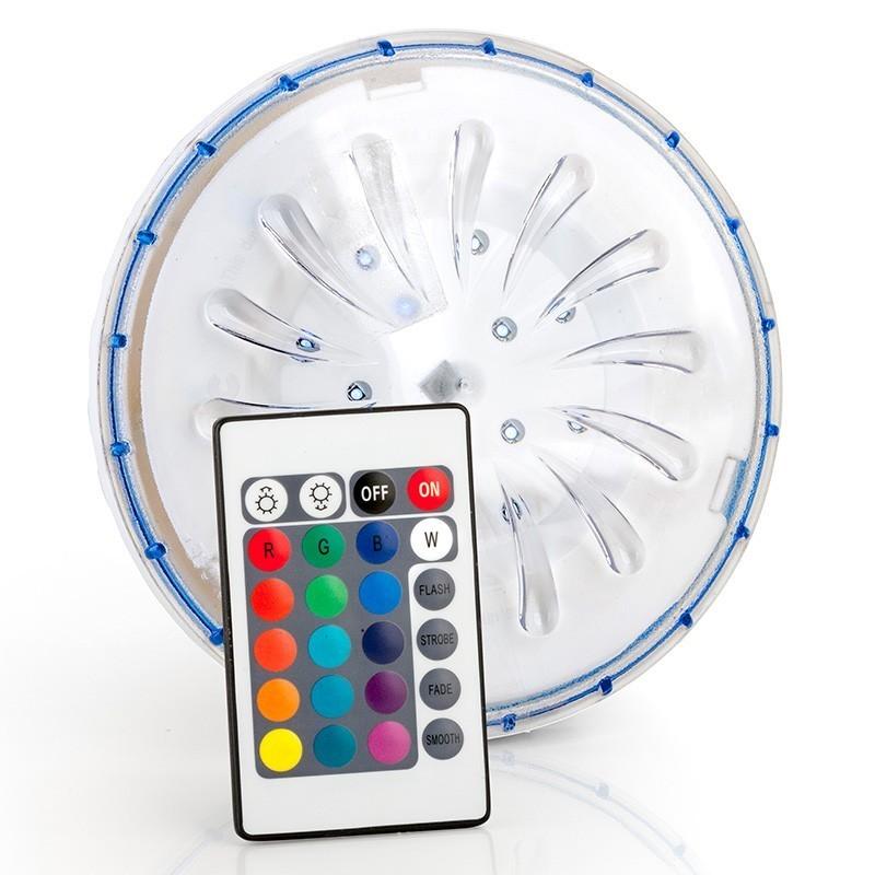 Foco LED color para piscina desmontable acero PLED1C