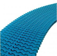 Módulo rejilla transversal azul liner para curvas AstralPool