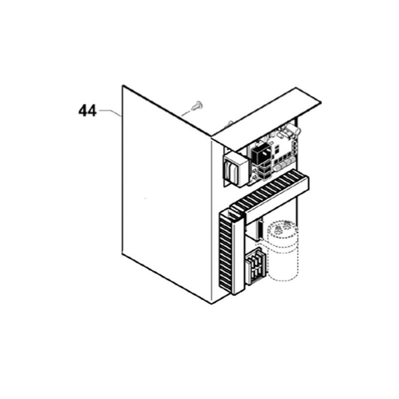 Placa electrónica completa nuevo condensador (desde 2014) Bomba de calor Zodiac Z200.
