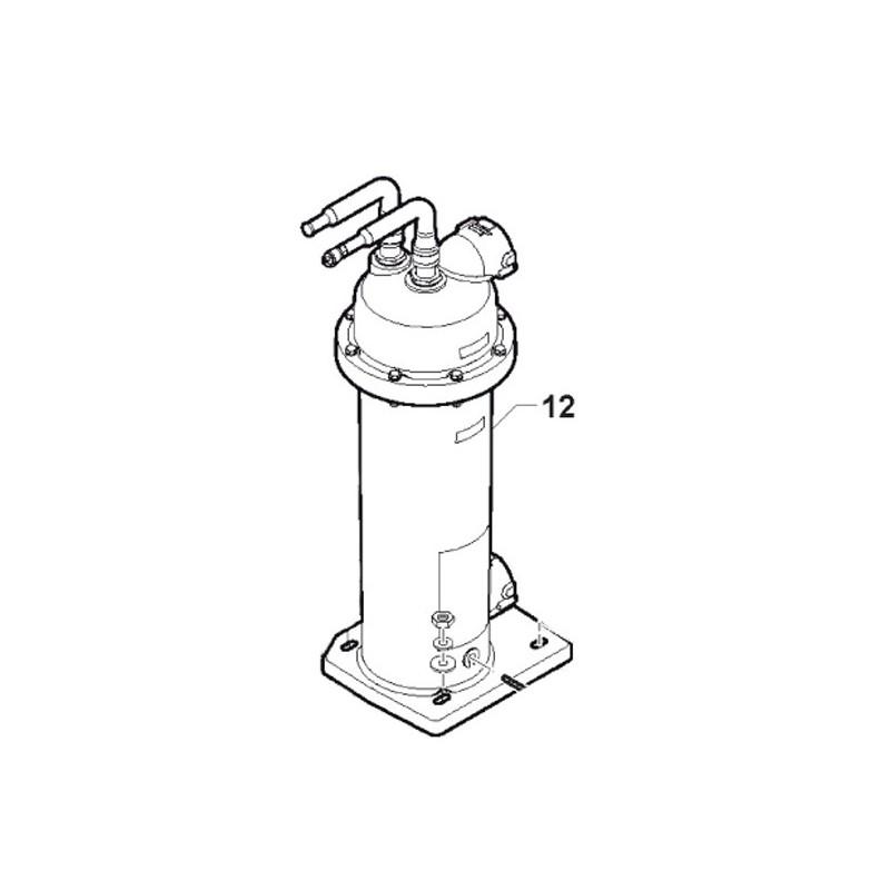 Condensador 5 KW Bomba de calor Zodiac Z200.