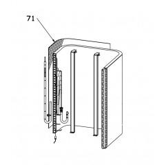 Rejilla gris evaporador Bomba de calor Zodiac ZS500