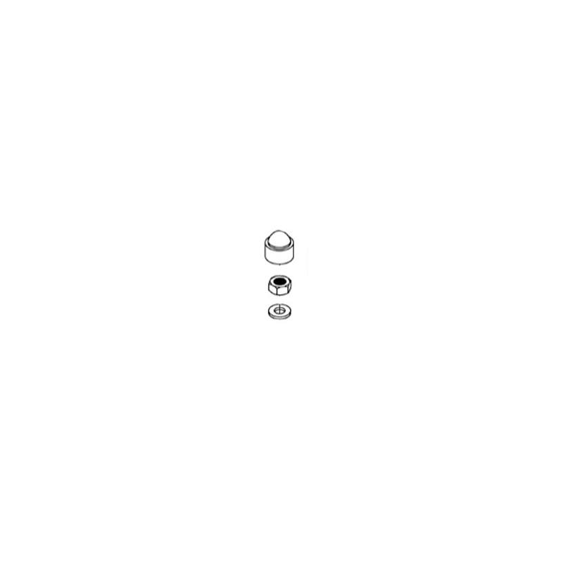Kit tornillería con capuchones (8 un.) Filtro Zodiac Boreal