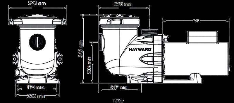 Dimensiones bomba Hayward Tristar