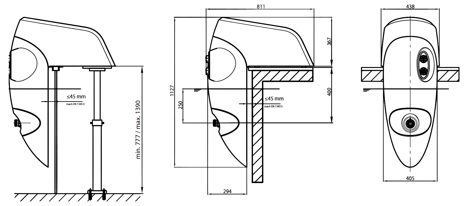 Dimensiones Badu Jet Perla