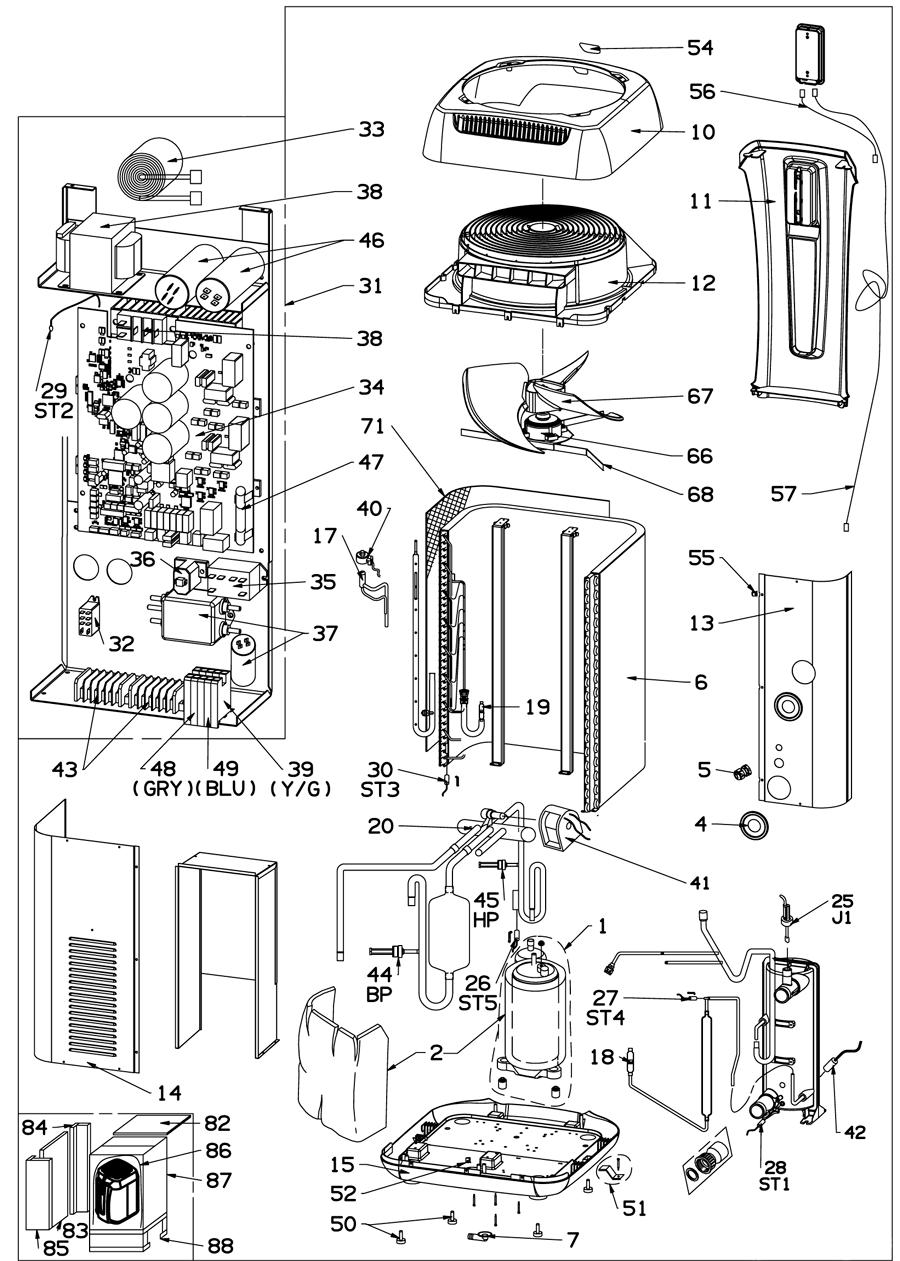 Recambios Bomba de Calor ZS500 Zodiac