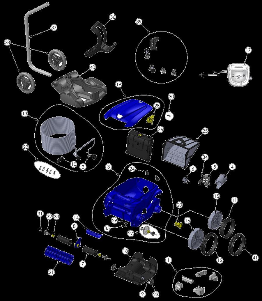 Despiece Limpiafondos RV4400 Zodiac