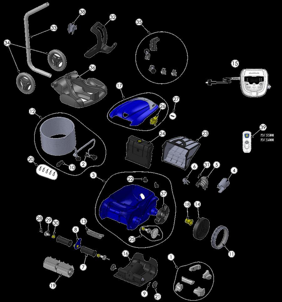 Despiece Limpiafondos RV5500 Zodiac