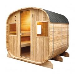 Sauna exterior de vapor Barrel 6 personas