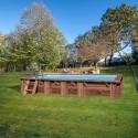 Piscina de madera Gre Mango rectangular 618x320x130