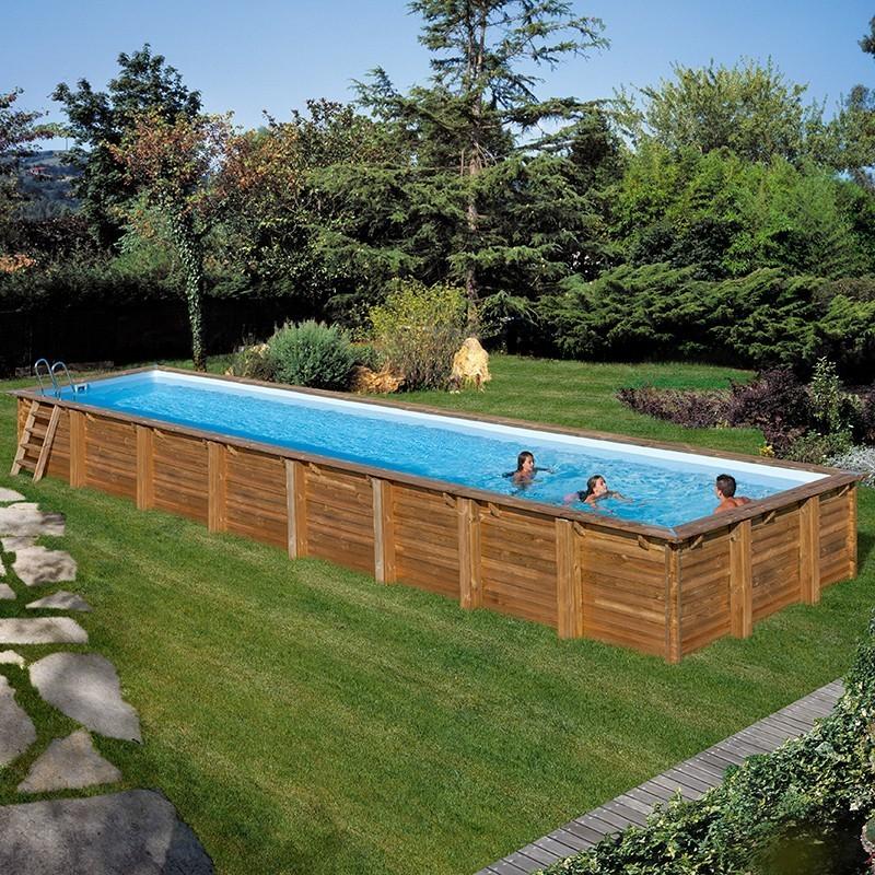 Piscina de madera Gre Cardamon rectangular 1200x400x146 788033