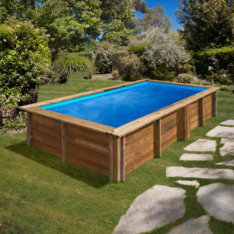 Piscina de madera Gre Lemon rectangular 375x200x68