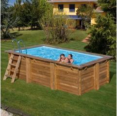 Piscina de madera Gre Marbella rectangular 427x277x119