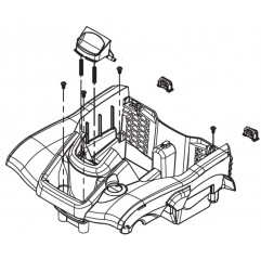 Bolsa estándar con cremallera R0836100 limpiafondos Polaris Quattro