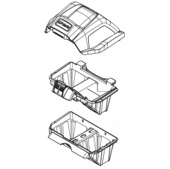 Conjunto soporte filtros R0836200 limpiafondos Polaris Quattro