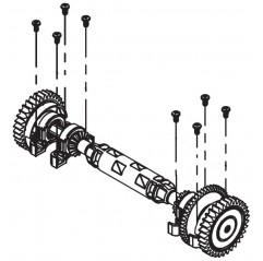 Eje conjunto de tracción transversal completo R0837500 limpiafondos Polaris Quattro Sport