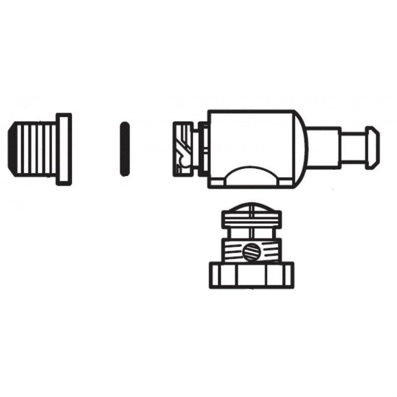 Conjunto conector AUP completo W7230341 limpiafondos Polaris Quattro Sport