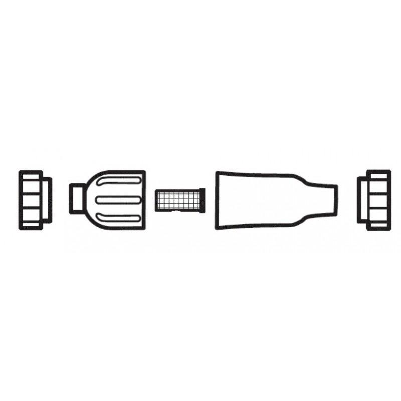Conjunto de filtro en línea (negro) W7330316 limpiafondos Polaris Quattro Sport