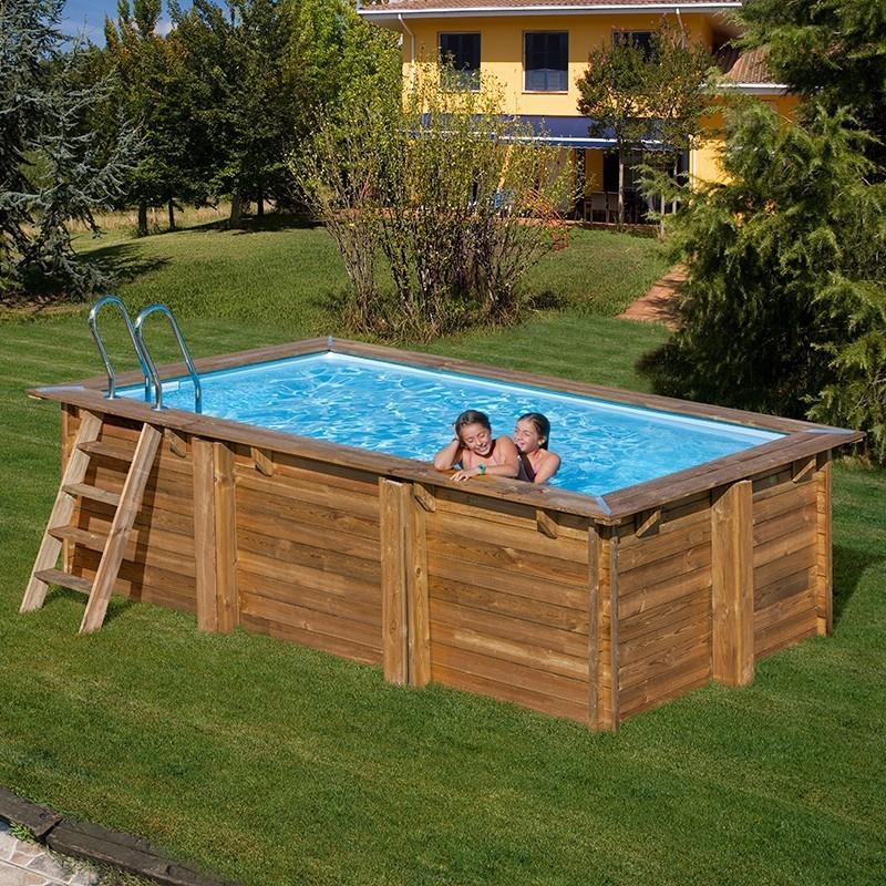 Piscina de madera Gre Marbella rectangular