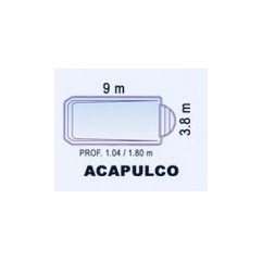 Piscina de Fibra Poliéster ACAPULCO