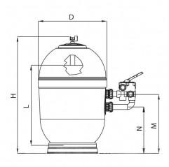 Filtro Rapidpool Lateral AstralPool depuradora piscina