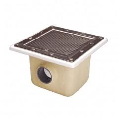 Sumidero de poliéster+fv 355x355 mm piscina liner y prefabricada