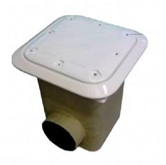 Sumidero Norm poliéster+fv rejilla plástico piscina liner y prefab.