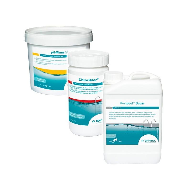 Kit invernaje de bayrol para piscinas de liner y fibra for Precio de liner para piscinas