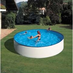 Piscina desmontable Gre Lanzarote circular acero chapa blanca