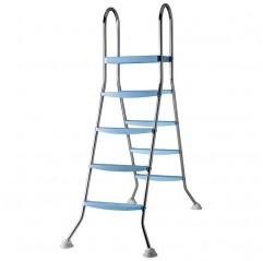 Escalera de acero inoxidable Gre con plataforma  2x4 peldaños