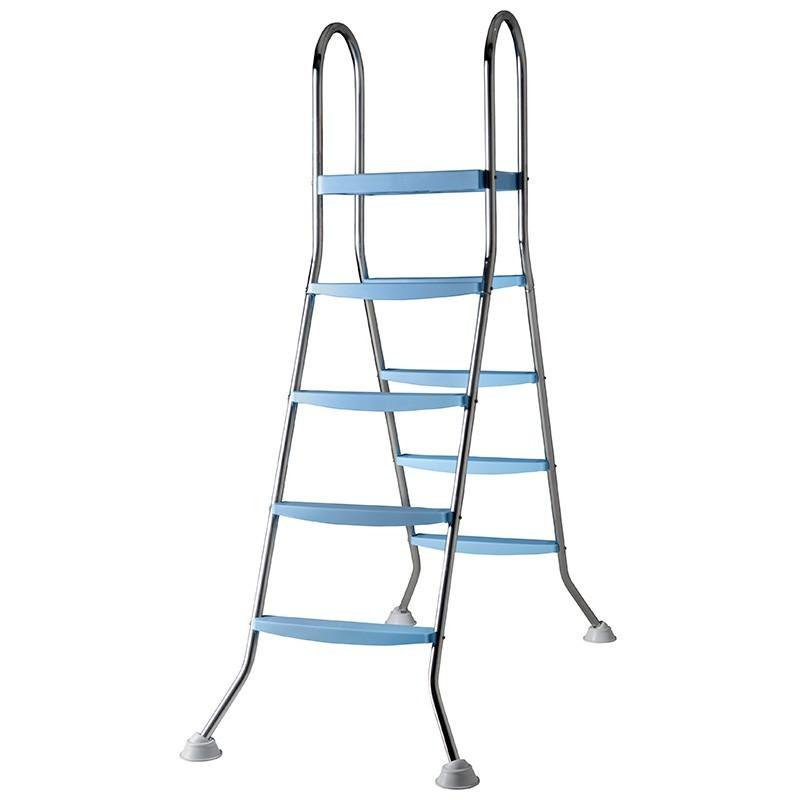 escalera acero inoxidable gre con plataforma x peldaos ar