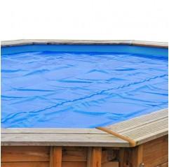 Cubierta verano redonda Gre para piscinas de madera