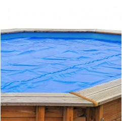 Cubierta verano ovalada Gre para piscinas de madera