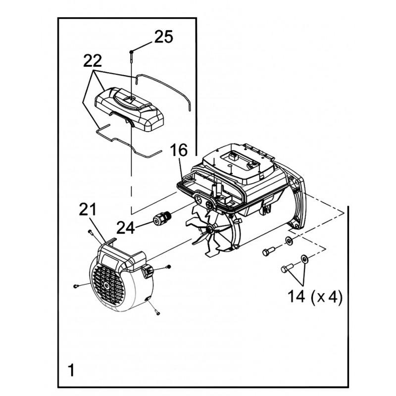 Kit motor FloPro VS 160 EU Bomba de piscinna Zodiac FloPro VS.