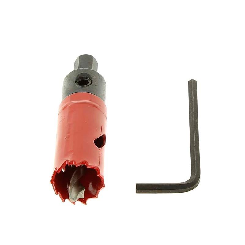 Corona taladro 22 mm para perforado de tubos para Clorador Salino Ei Zodiac