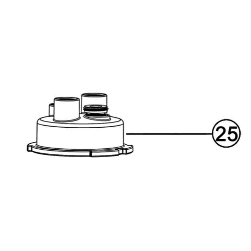 Tapa superior POD (con adaptador roscado para detector de caudal) TRi pH / Tri PRO, pH Link y Dual Link