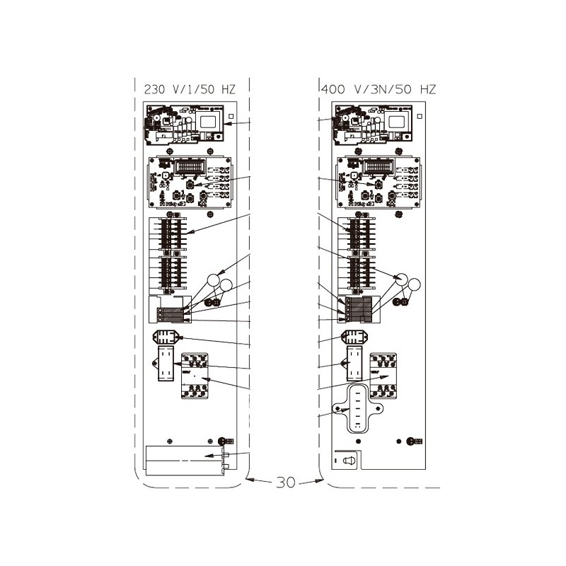 Platina eléctrica PFPREM 8 y Z300M4 Bomba de calor Zodiac Z300.