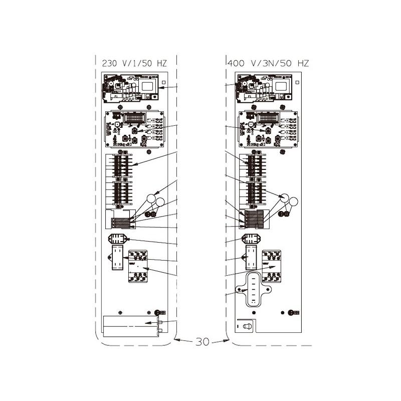 Platina eléctrica PREM 11T y Z300 T5 Bomba de calor Zodiac Z300.