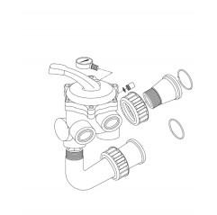 """Kit válvula 6 vías 1 ½"""" Boreal (sin tubería) Filtro Zodiac Boreal"""