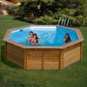 Piscina de madera Gre Sunbay 460x121 KWR511
