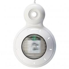 Proyector LED blanco para piscinas con conexión a válvula de retorno