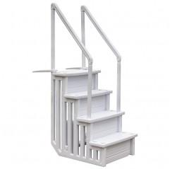 Escalera inox piscina acceso fácil AISI-304 3 peldaños dobles