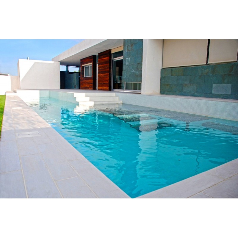 Piscina de obra 8x4 de gresite blanco - Costo piscina 8x4 ...