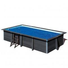 Cubierta de verano Gre rectangular piscina composite