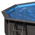 Cubierta de verano Gre ovalada piscina composite