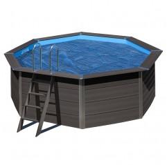 Cubierta de verano Gre redonda piscina composite