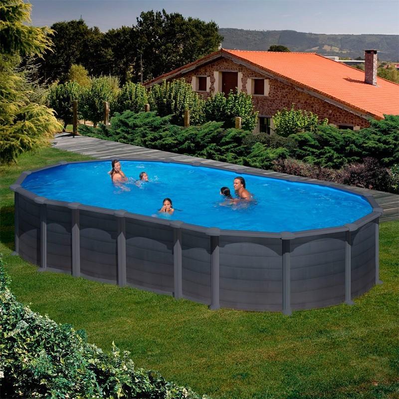 Comprar piscina gre creta ovalada mejor precio for Piscina ovalada hinchable