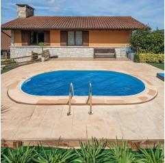 Cubierta isotérmica para piscina enterrada Gre ovalada