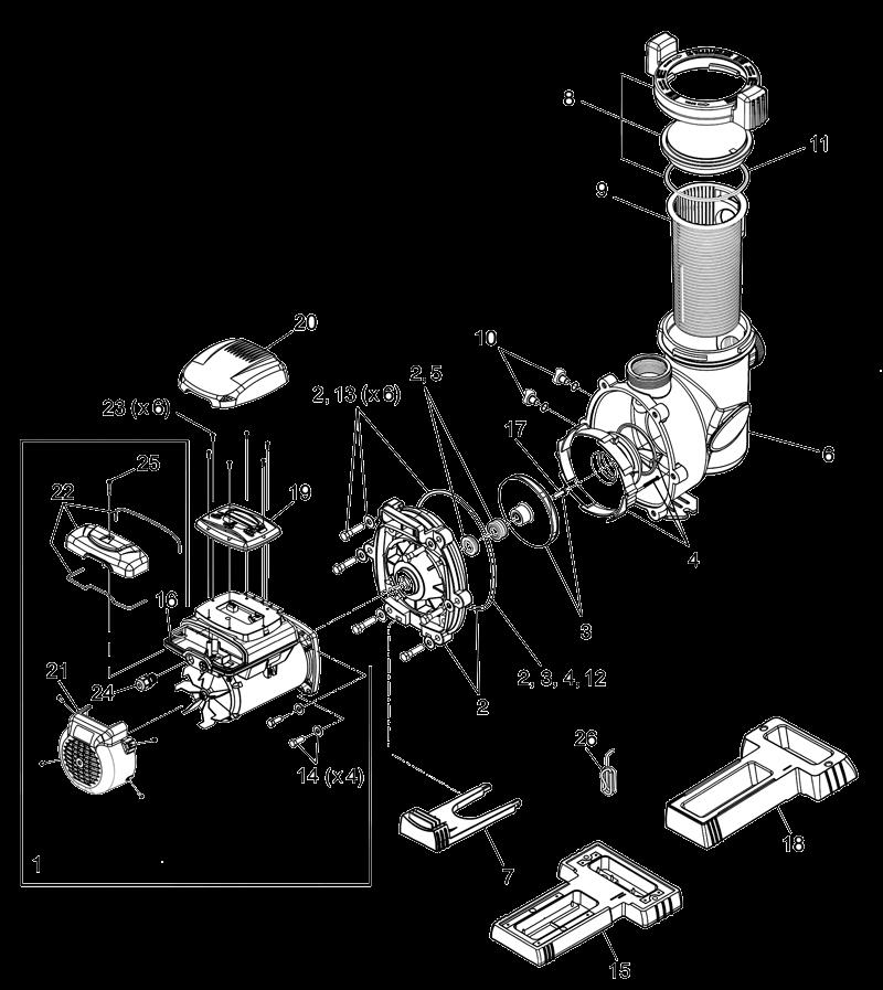 Despiece Bomba Velocidad Variable Zodiac FloPro
