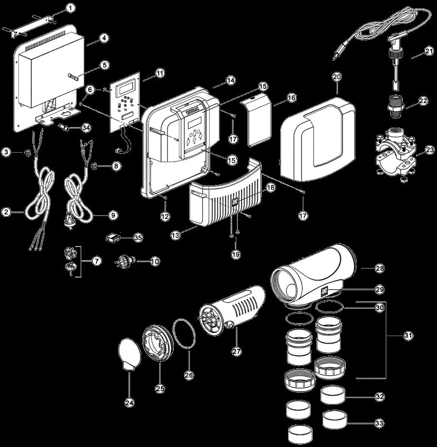 Despiece Hydroxinator MagnaPool Zodiac
